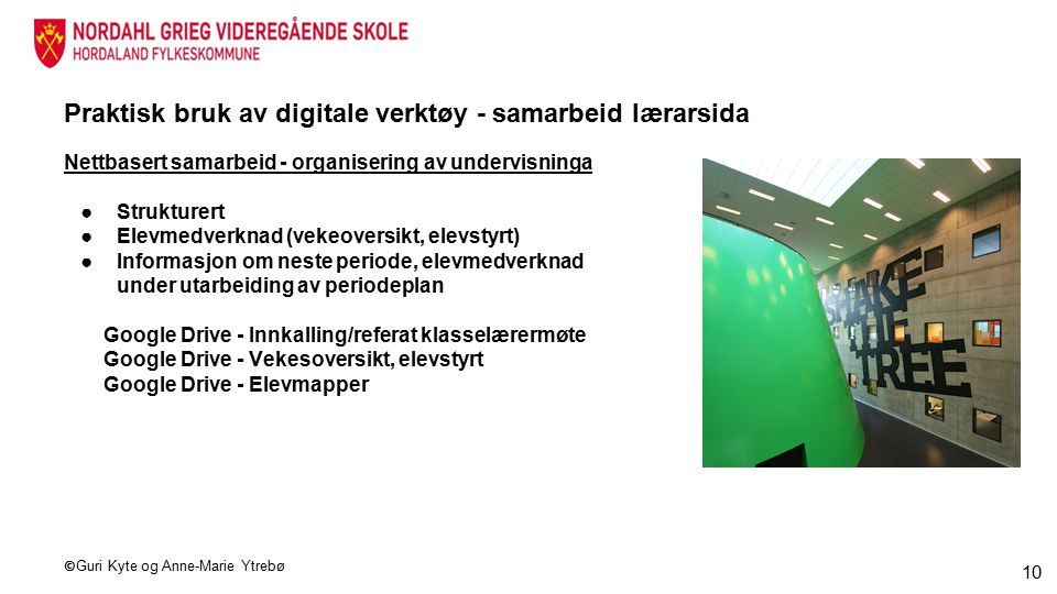 Praktisk bruk av digitale verktøy - samarbeid lærarsida