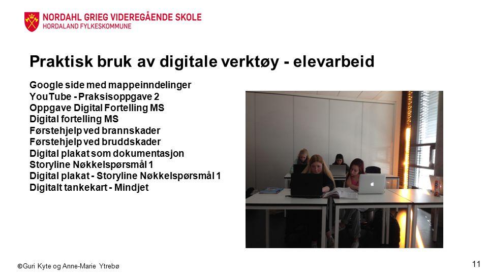 Praktisk bruk av digitale verktøy - elevarbeid
