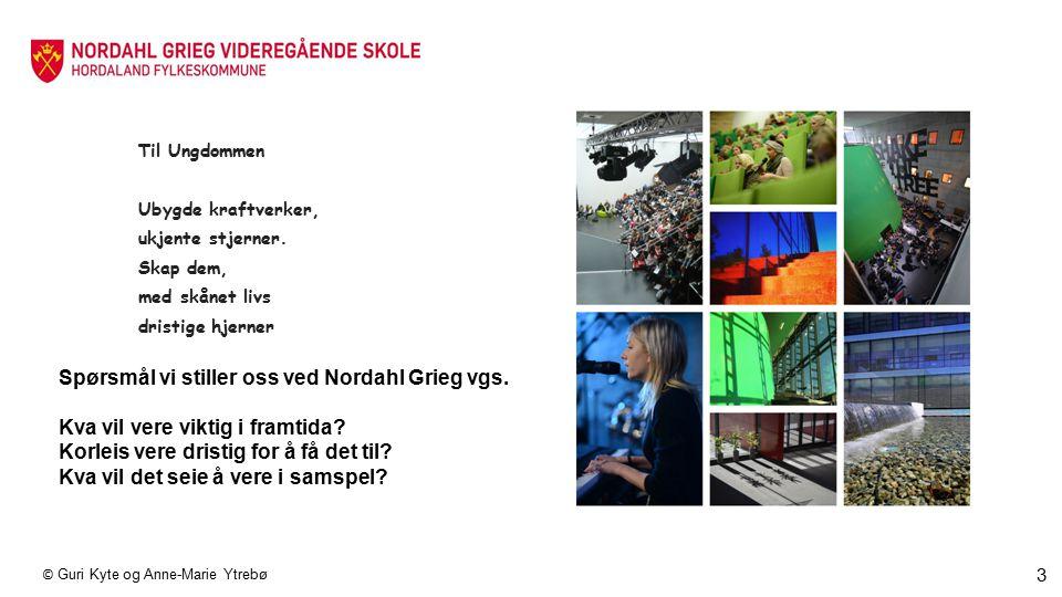 Spørsmål vi stiller oss ved Nordahl Grieg vgs.