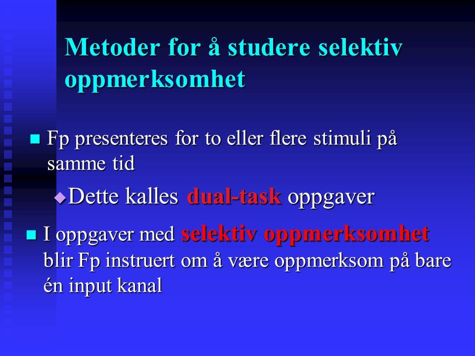 Metoder for å studere selektiv oppmerksomhet
