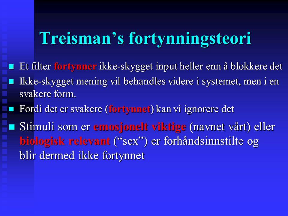 Treisman's fortynningsteori