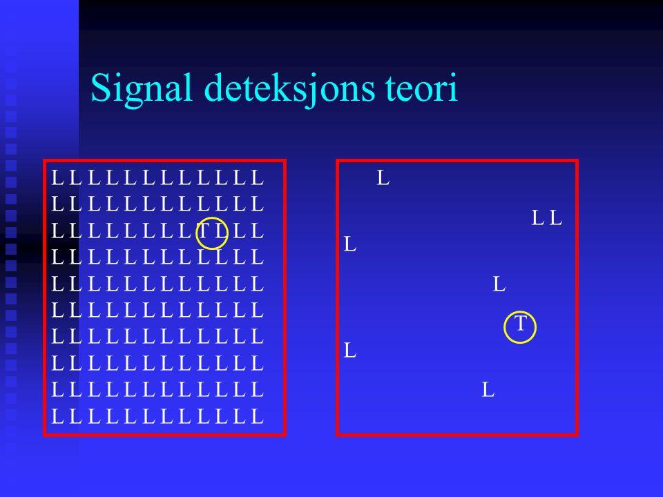 Signal deteksjons teori