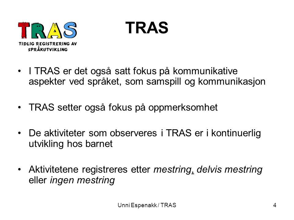 TRAS I TRAS er det også satt fokus på kommunikative aspekter ved språket, som samspill og kommunikasjon.