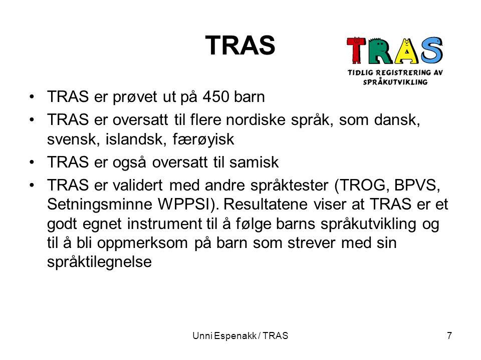 TRAS TRAS er prøvet ut på 450 barn