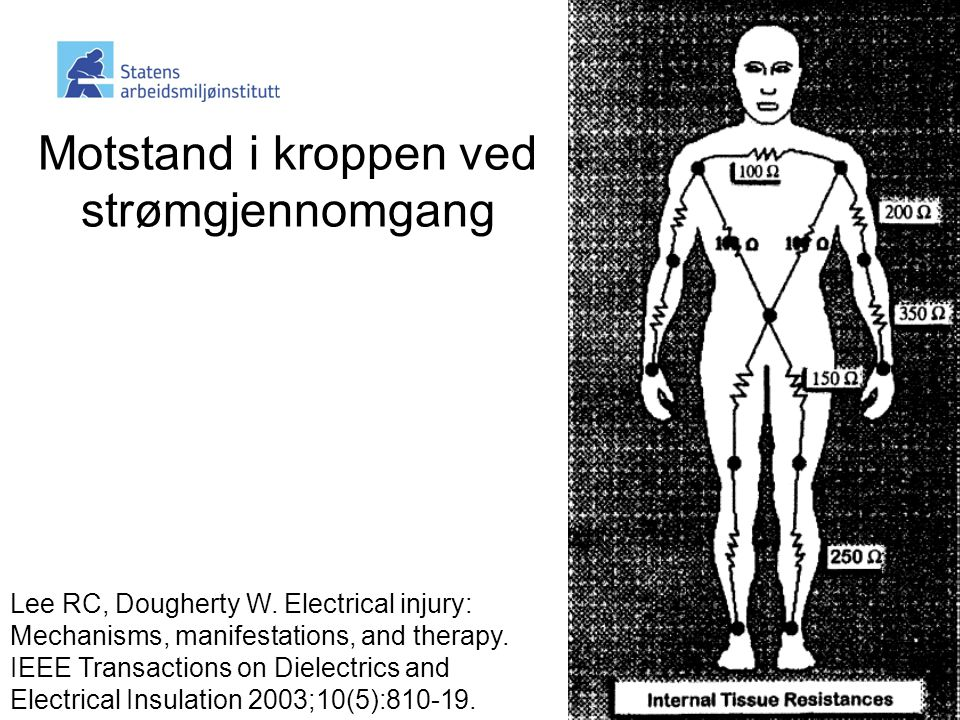 Motstand i kroppen ved strømgjennomgang