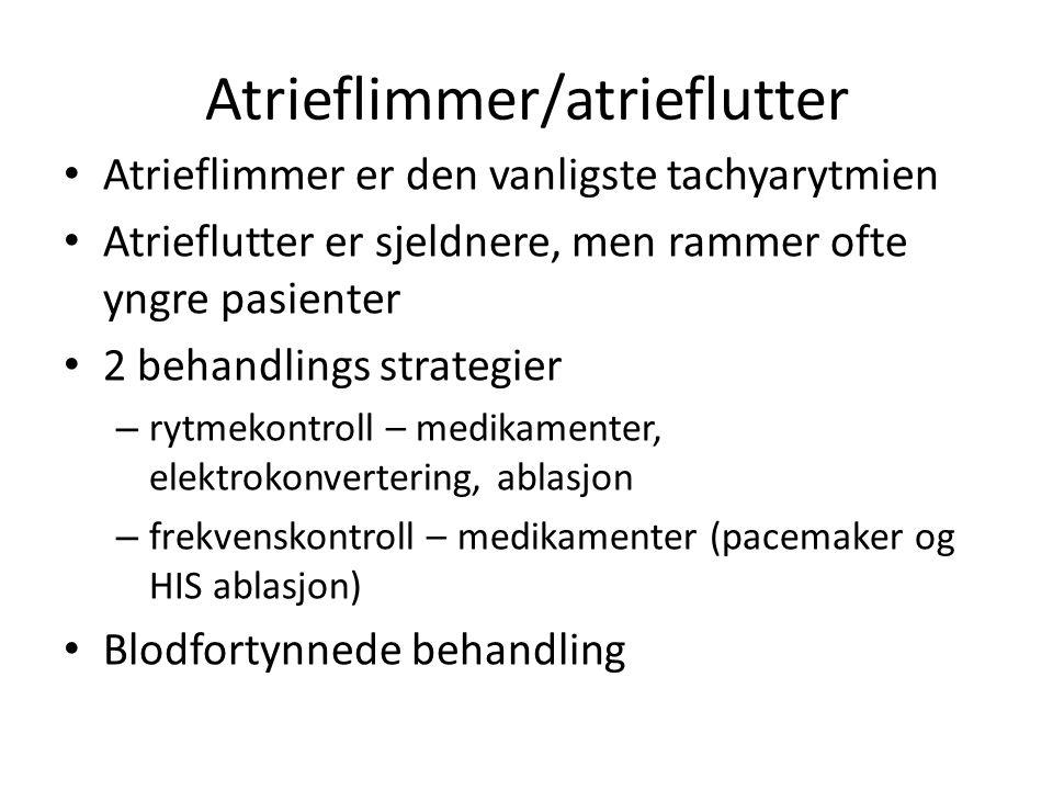 Atrieflimmer/atrieflutter