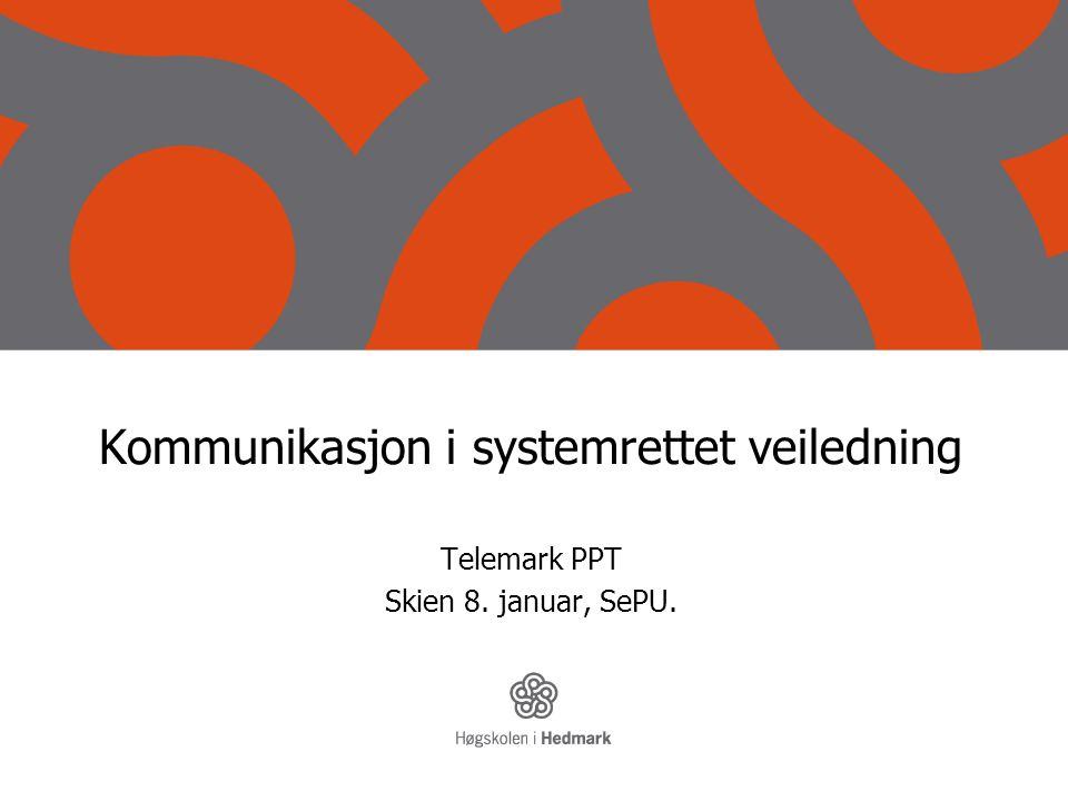 Kommunikasjon i systemrettet veiledning