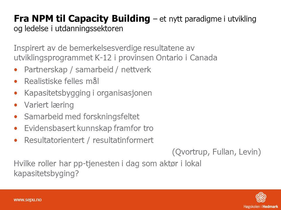 Fra NPM til Capacity Building – et nytt paradigme i utvikling og ledelse i utdanningssektoren