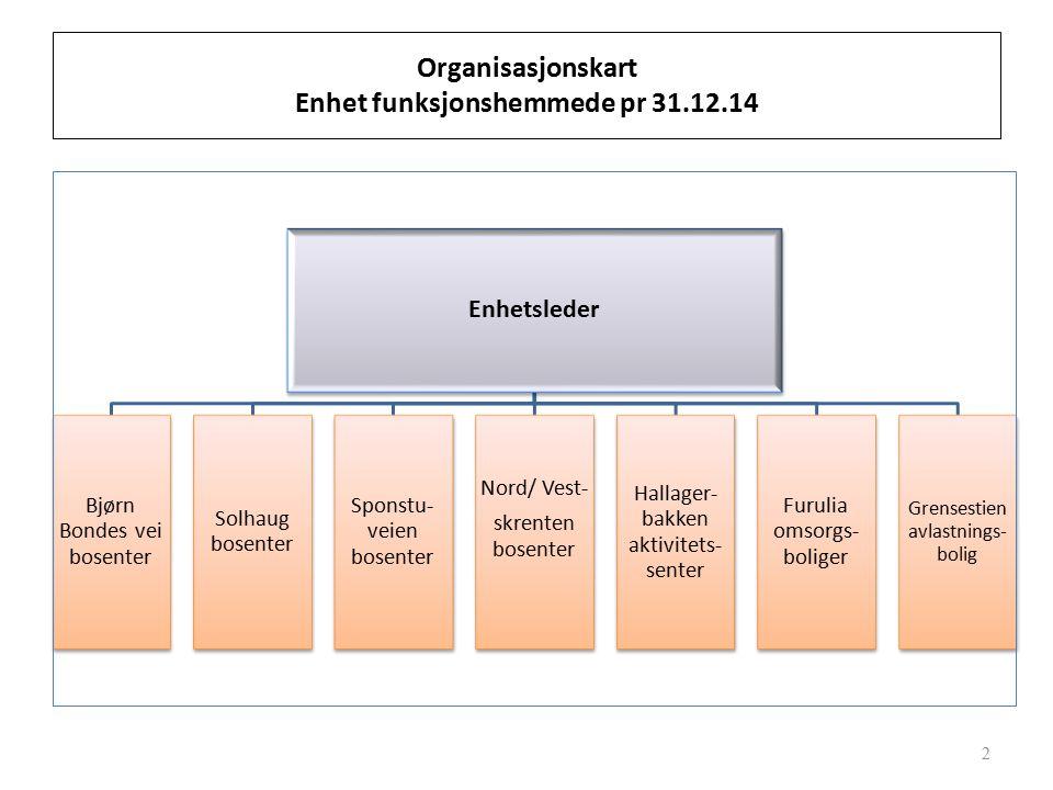 Organisasjonskart Enhet funksjonshemmede pr 31.12.14