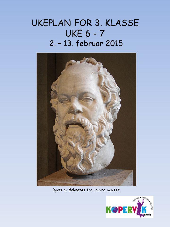UKEPLAN FOR 3. KLASSE UKE 6 - 7 2. – 13. februar 2015