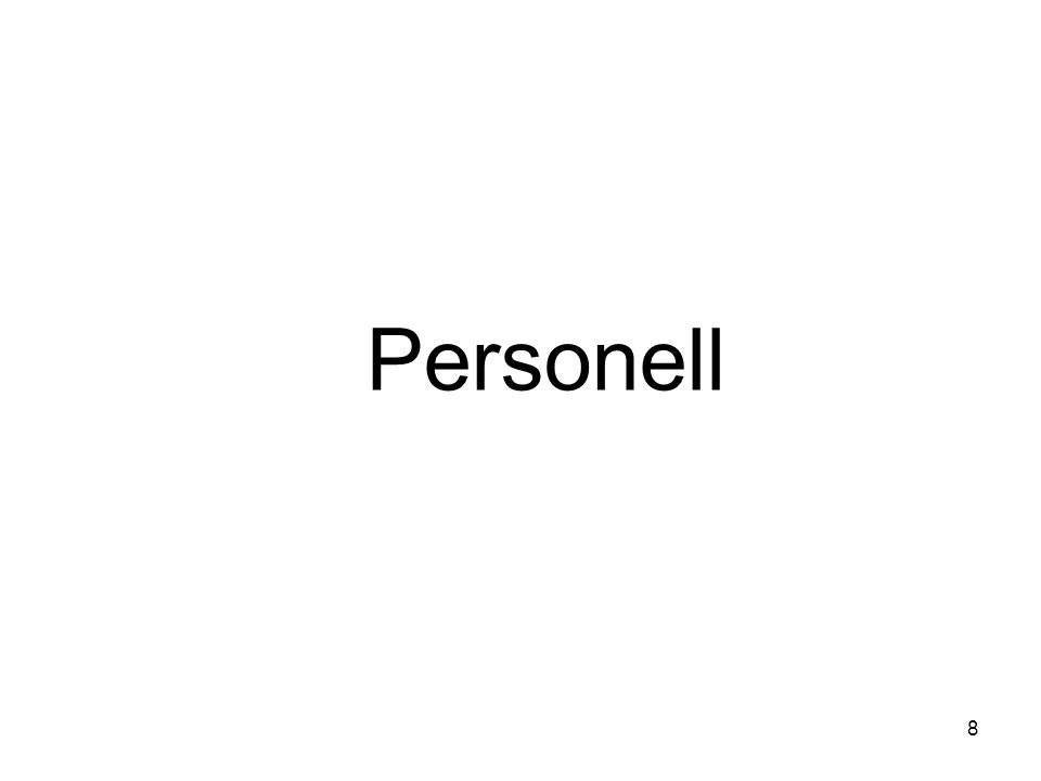 Personell