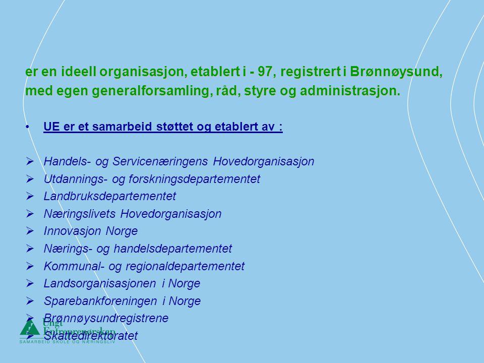 er en ideell organisasjon, etablert i - 97, registrert i Brønnøysund,