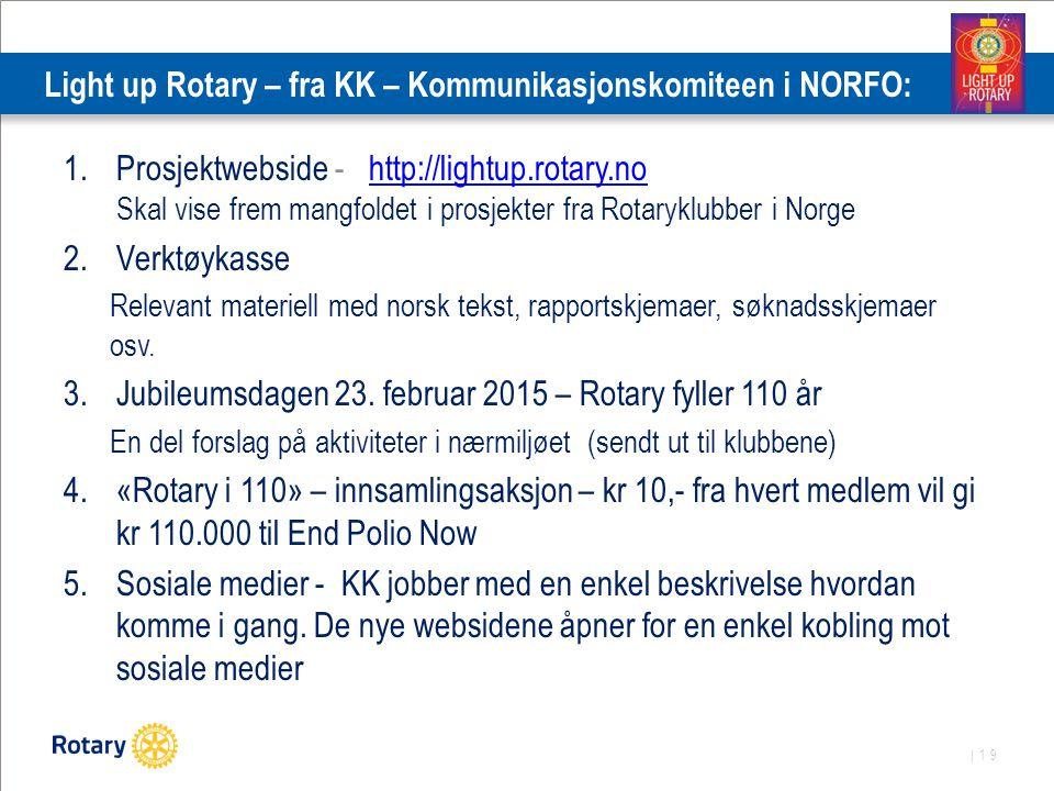 Light up Rotary – fra KK – Kommunikasjonskomiteen i NORFO: