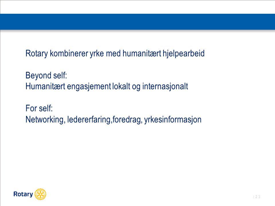 Rotary kombinerer yrke med humanitært hjelpearbeid
