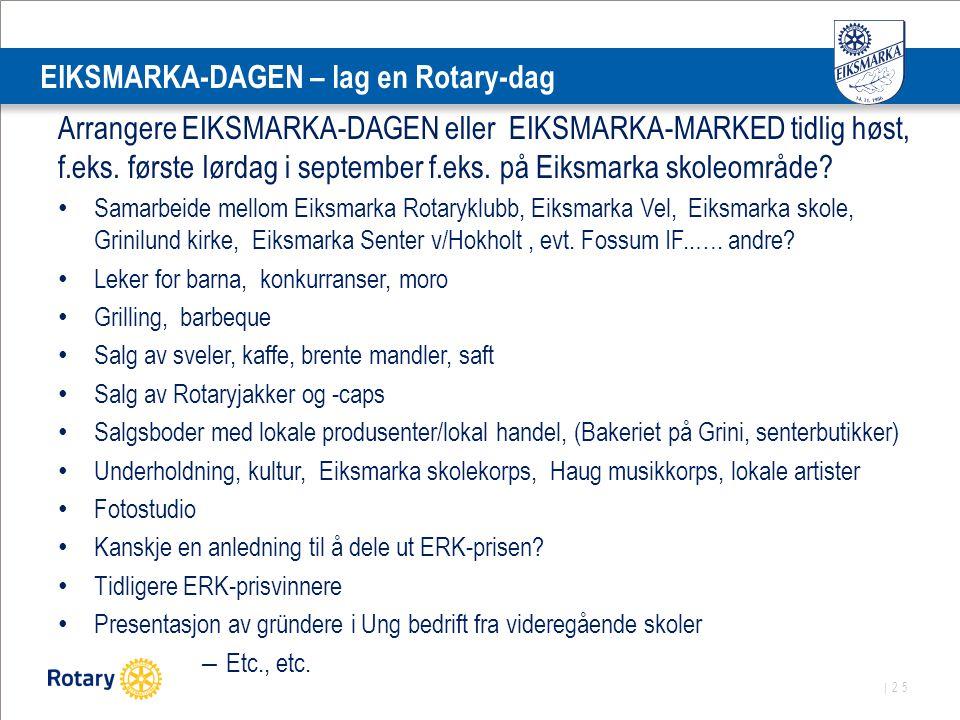 EIKSMARKA-DAGEN – lag en Rotary-dag