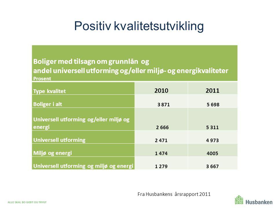 Positiv kvalitetsutvikling