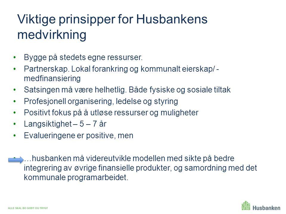 Viktige prinsipper for Husbankens medvirkning