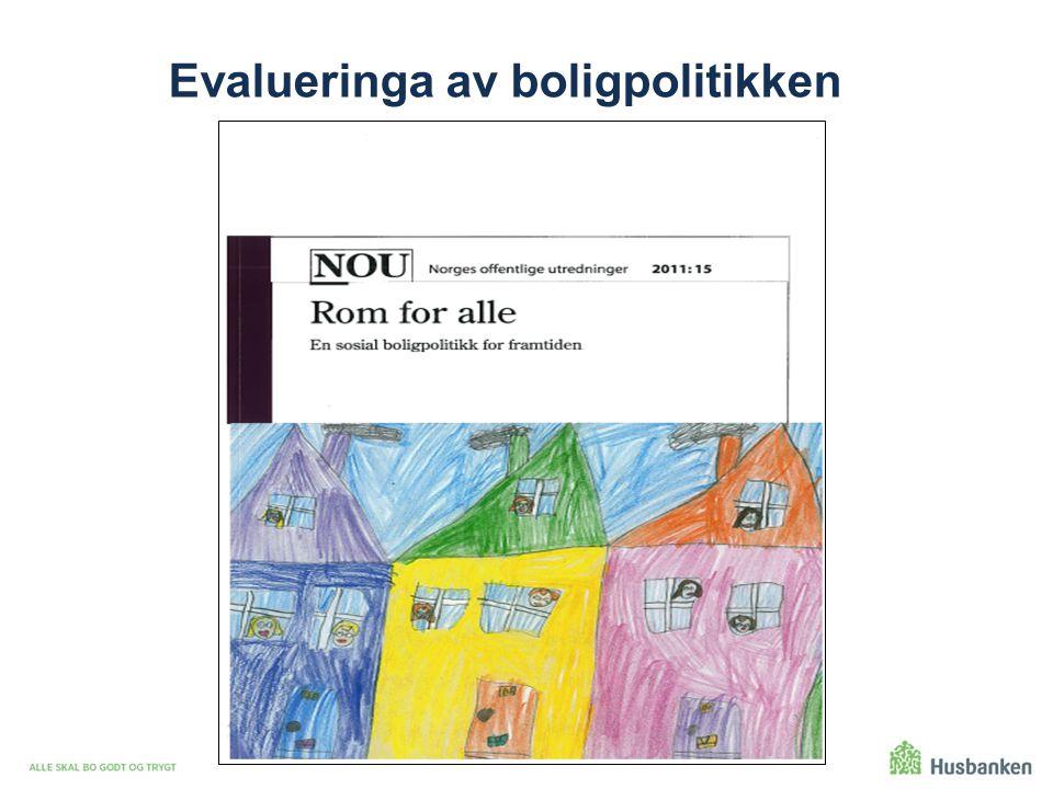 Evalueringa av boligpolitikken