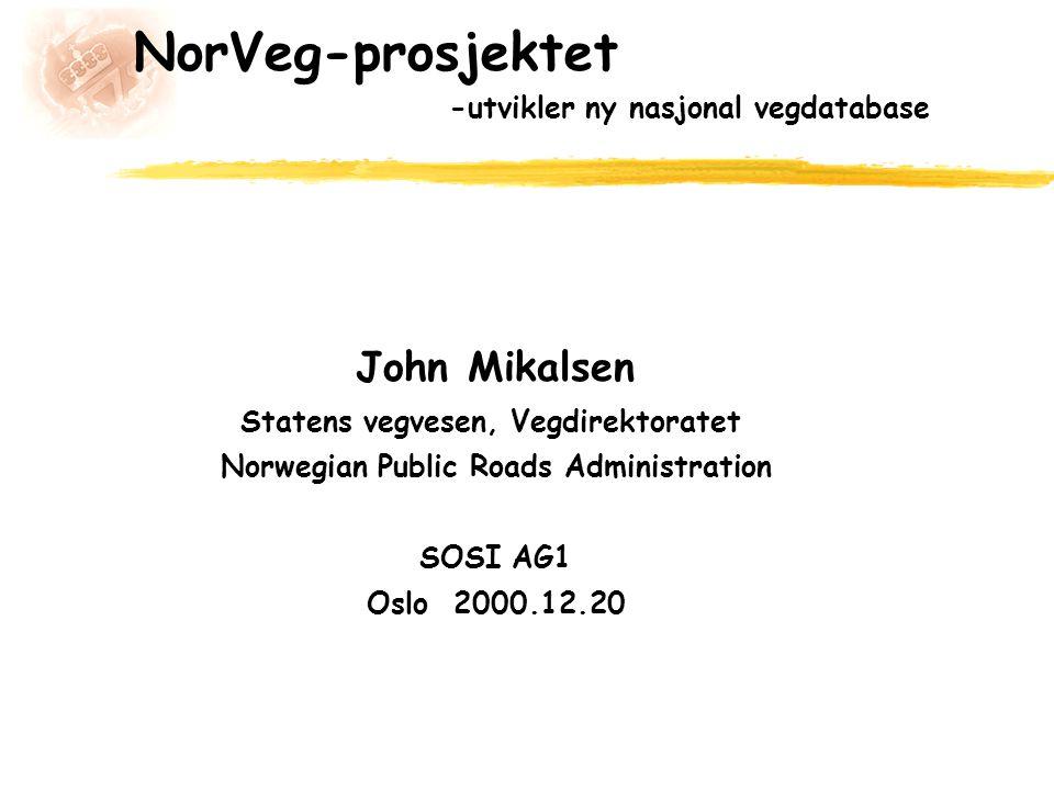 NorVeg-prosjektet -utvikler ny nasjonal vegdatabase