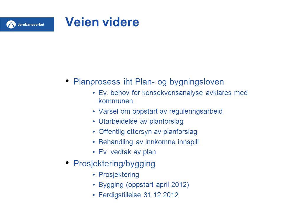 Veien videre Planprosess iht Plan- og bygningsloven