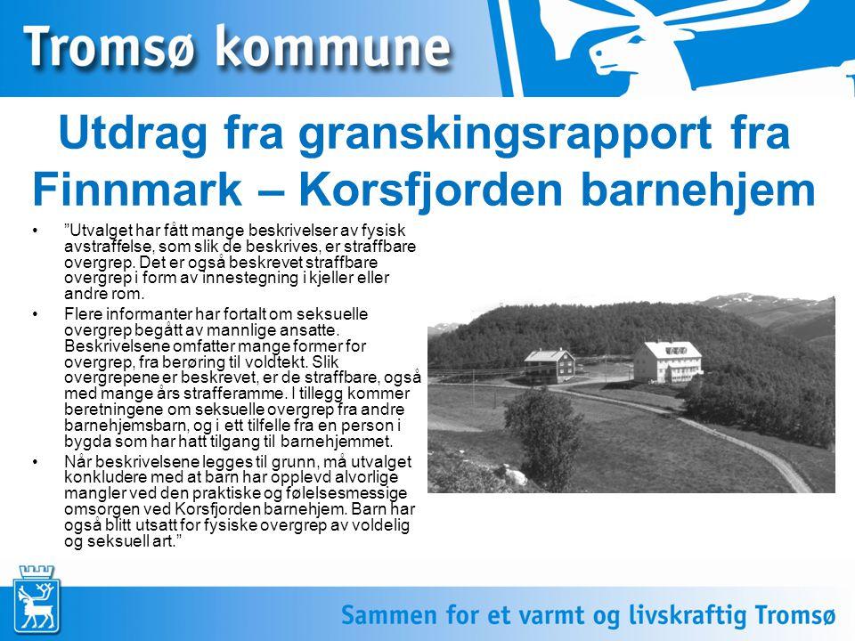 Utdrag fra granskingsrapport fra Finnmark – Korsfjorden barnehjem