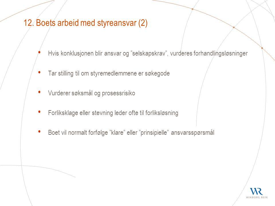 12. Boets arbeid med styreansvar (2)