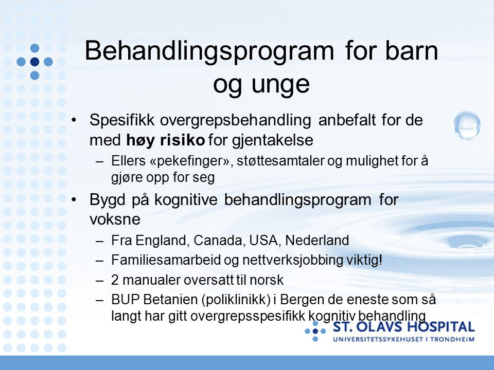 Behandlingsprogram for barn og unge