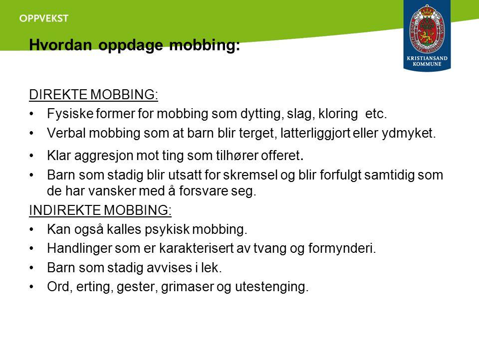 Hvordan oppdage mobbing: