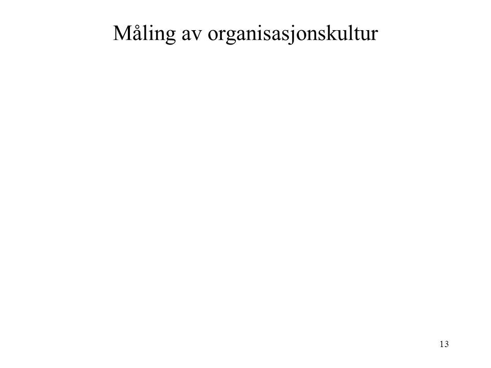Måling av organisasjonskultur