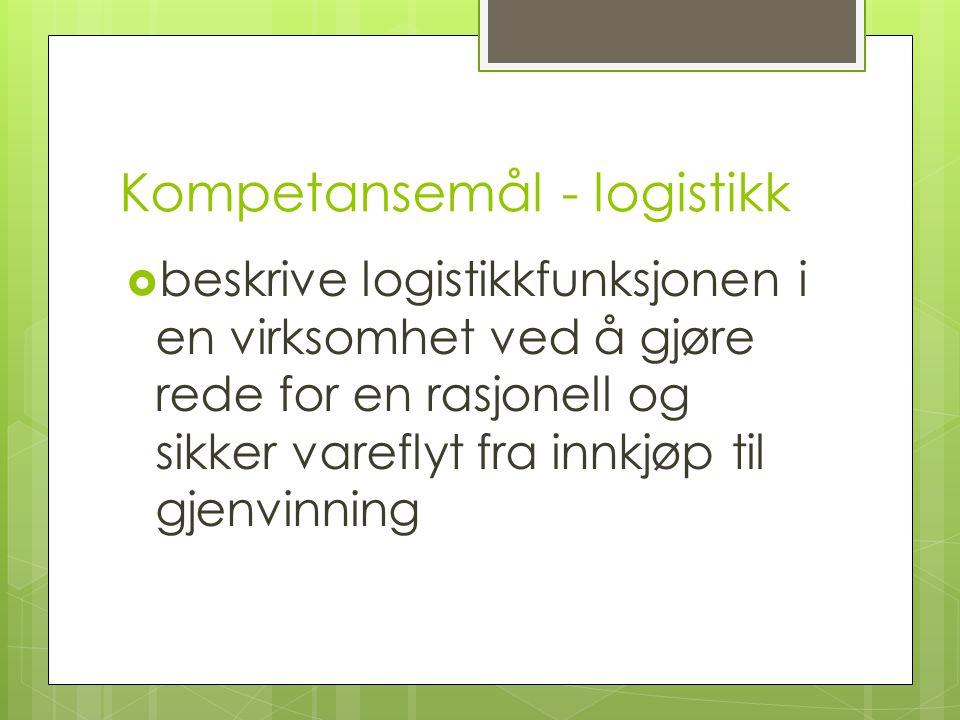 Kompetansemål - logistikk