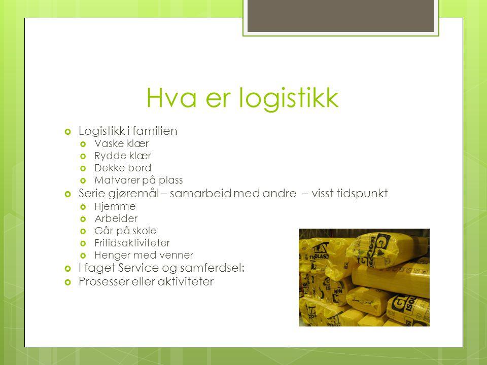 Hva er logistikk Logistikk i familien