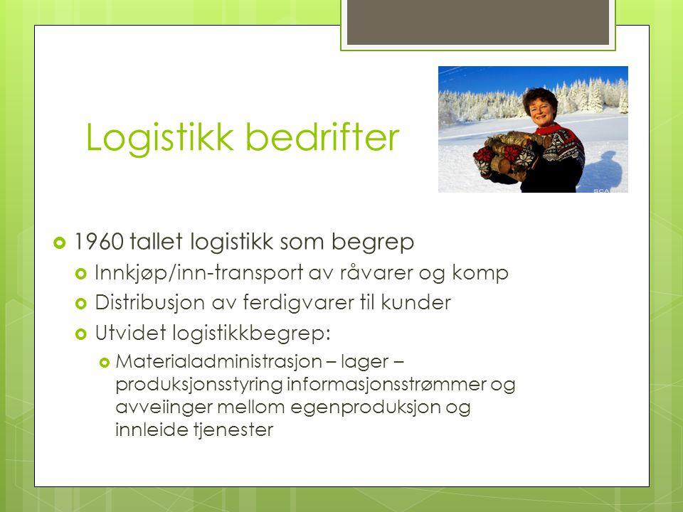 Logistikk bedrifter 1960 tallet logistikk som begrep