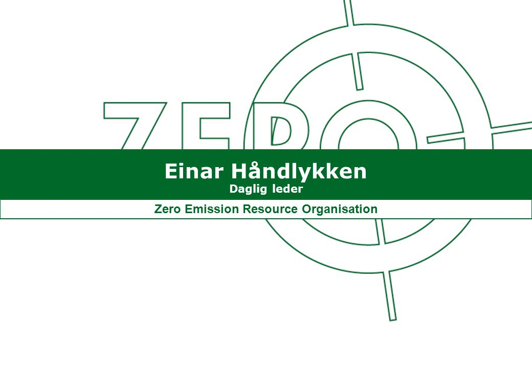 Zero Emission Resource Organisation
