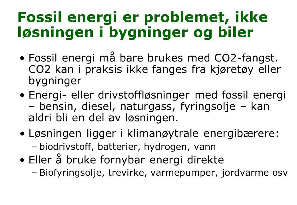 Fossil energi er problemet, ikke løsningen i bygninger og biler