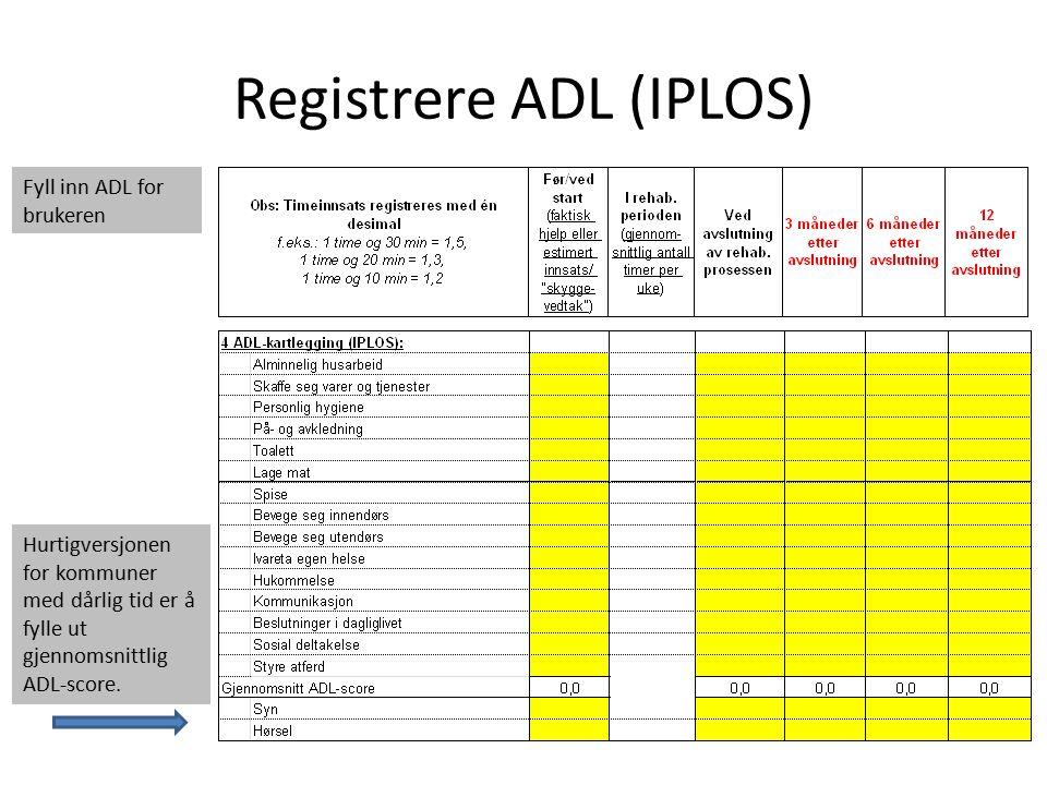 Registrere ADL (IPLOS)