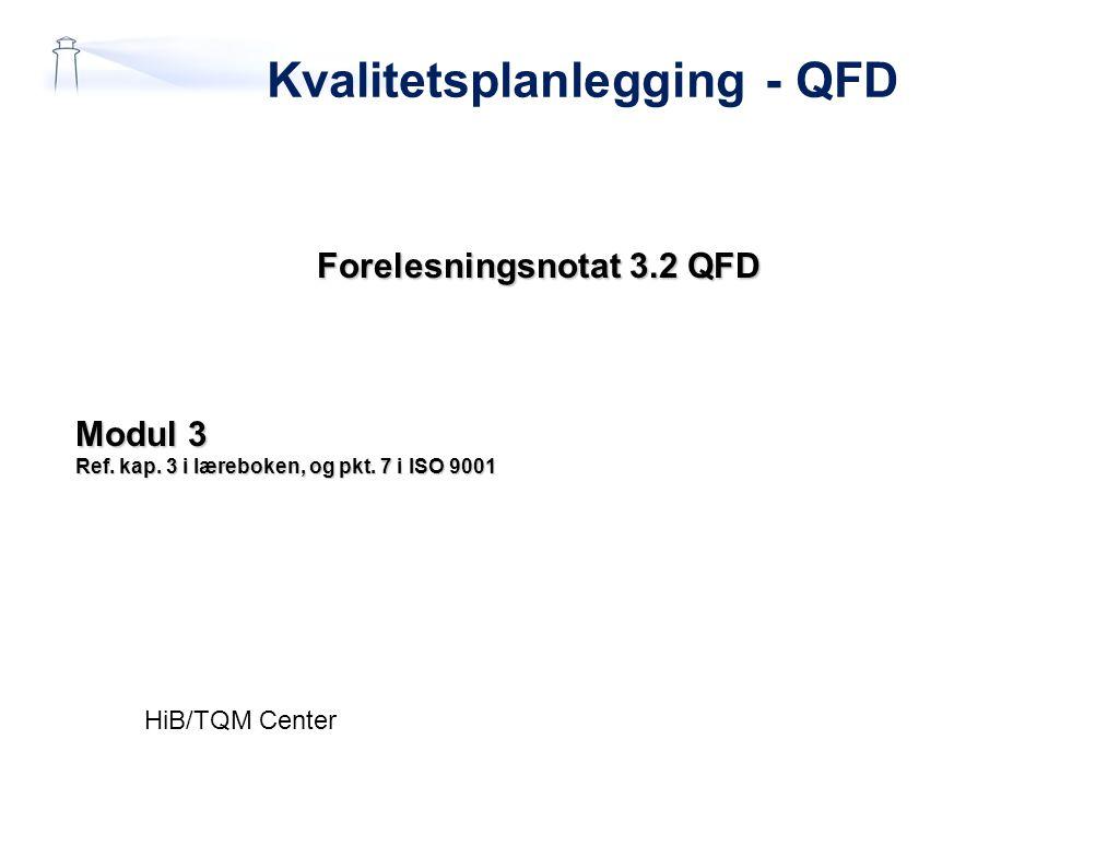 Kvalitetsplanlegging - QFD