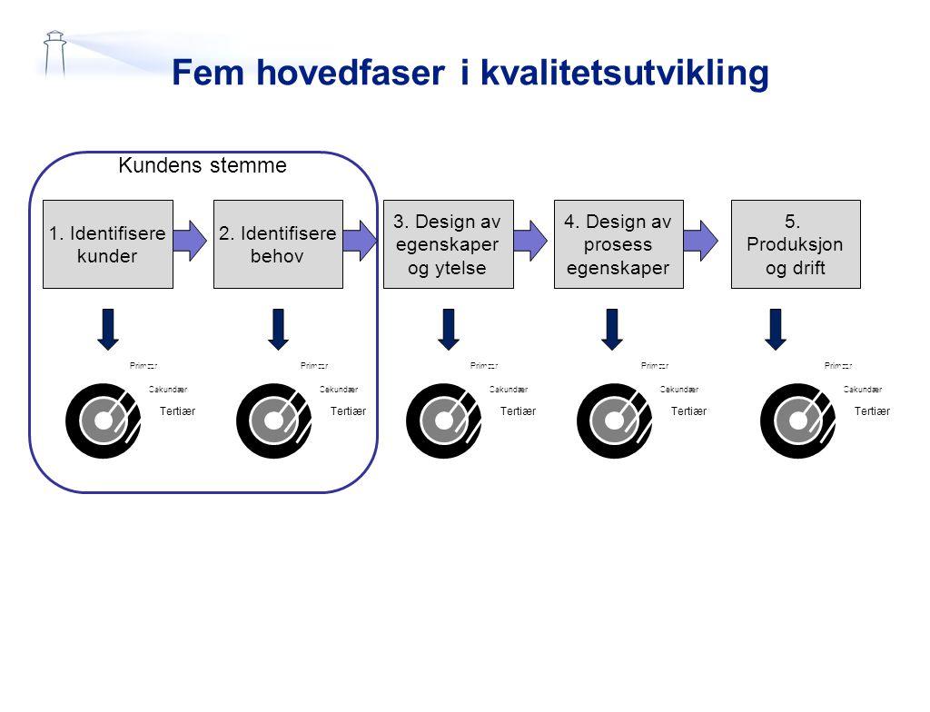 Fem hovedfaser i kvalitetsutvikling