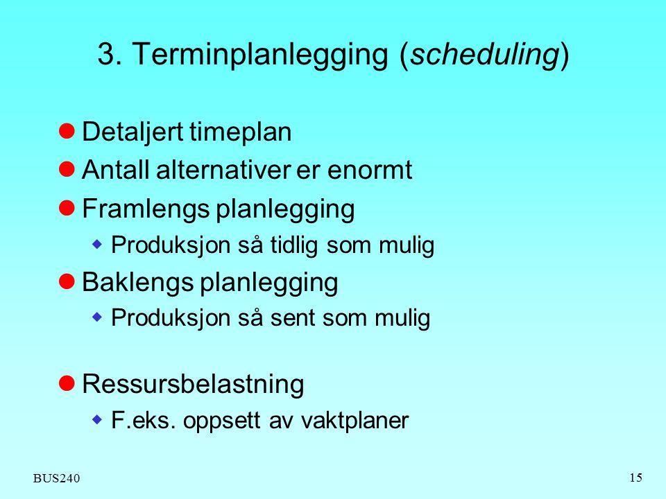 3. Terminplanlegging (scheduling)