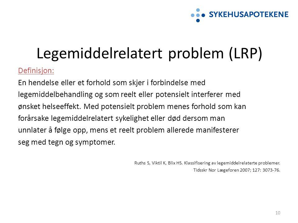 Legemiddelrelatert problem (LRP)