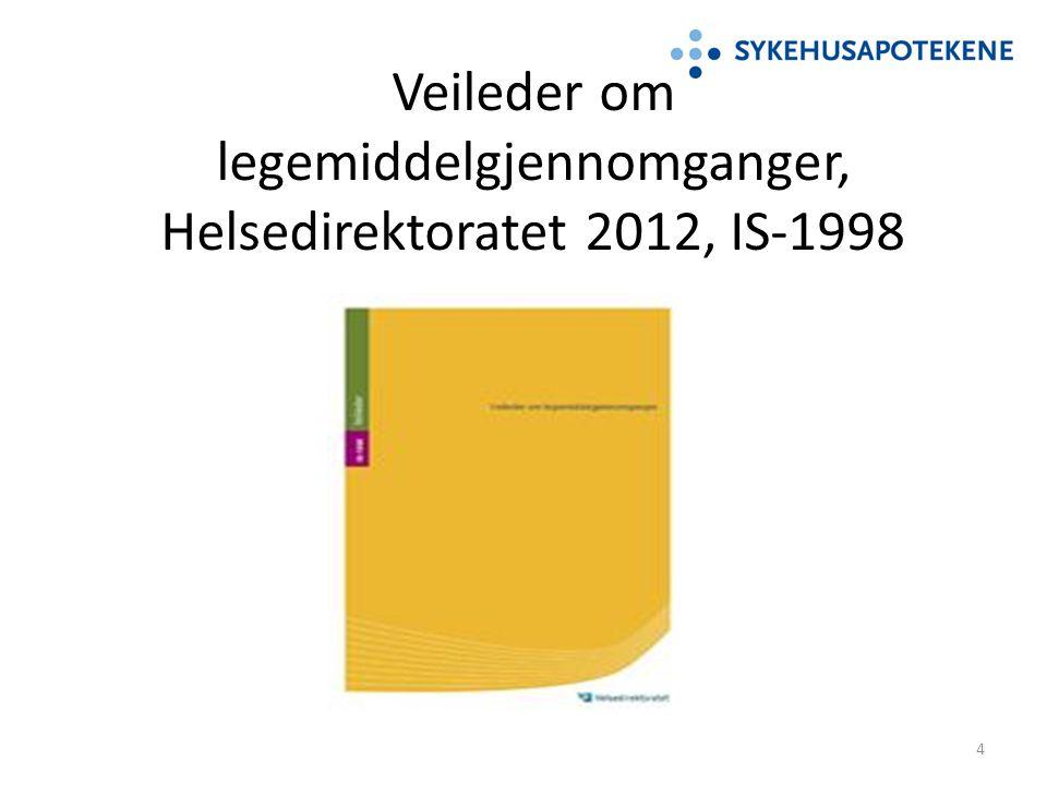 Veileder om legemiddelgjennomganger, Helsedirektoratet 2012, IS-1998