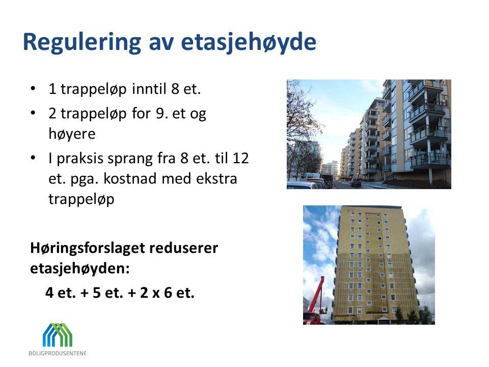 Regulering av etasjehøyde