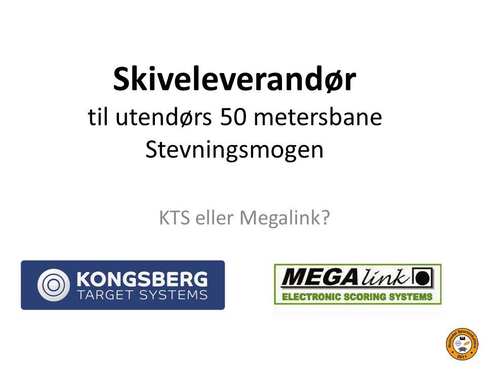 Skiveleverandør til utendørs 50 metersbane Stevningsmogen