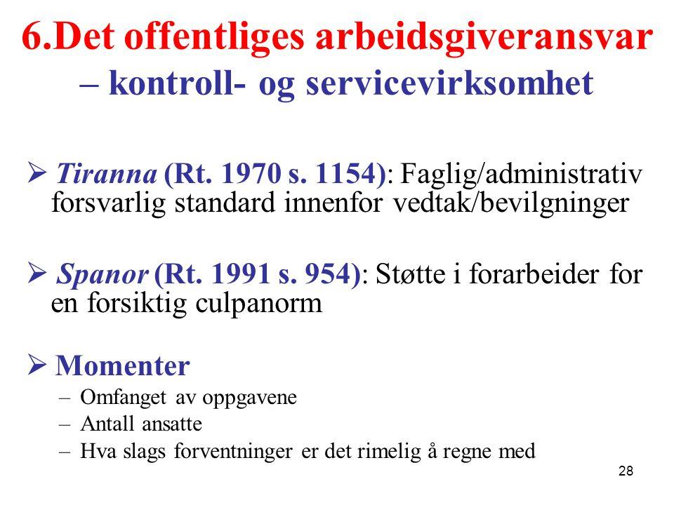 6.Det offentliges arbeidsgiveransvar – kontroll- og servicevirksomhet