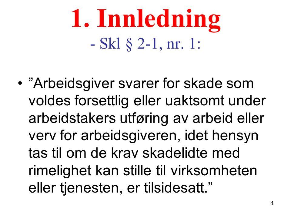 1. Innledning - Skl § 2-1, nr. 1: