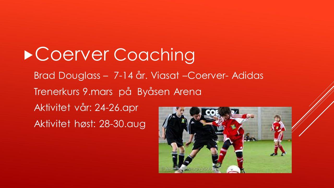 Coerver Coaching Brad Douglass – 7-14 år. Viasat –Coerver- Adidas