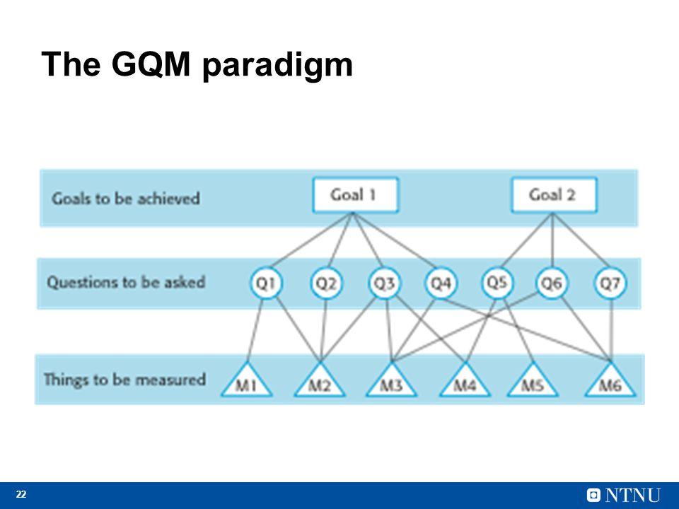 The GQM paradigm