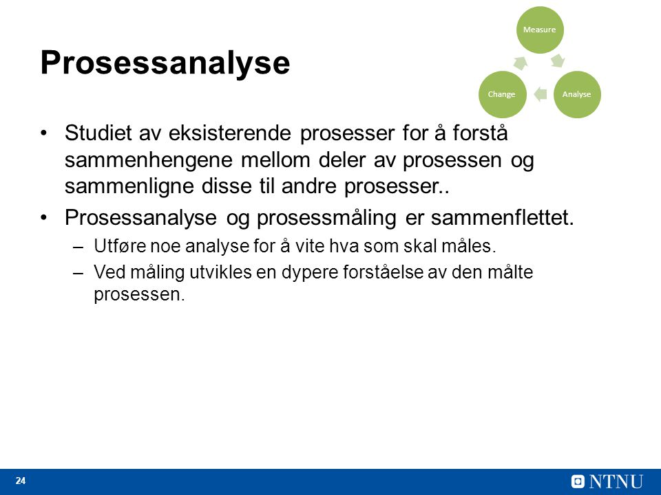 Measure Analyse. Change. Prosessanalyse.