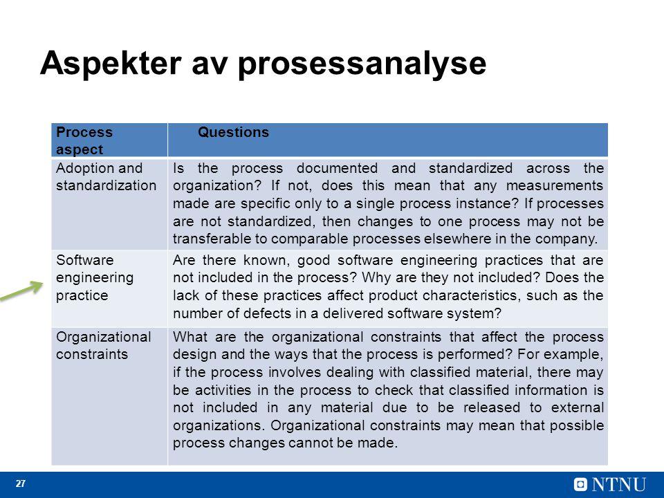 Aspekter av prosessanalyse