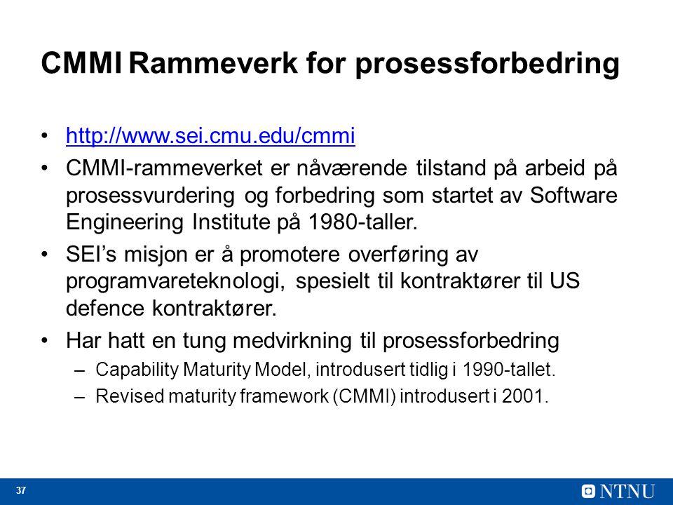 CMMI Rammeverk for prosessforbedring