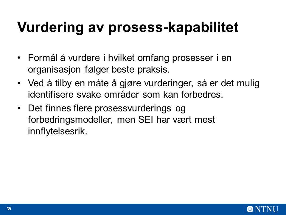 Vurdering av prosess-kapabilitet